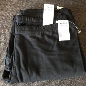 SO 2pc black coal perfect leggings size Large NWT